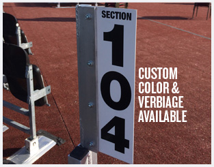 section-signage-adjustable-color-text