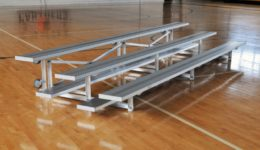 Low Rise Tip and Roll Portable Bleachers